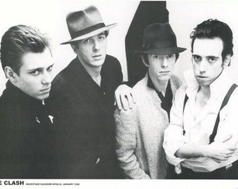 The Clash Black and White 1980 Rare Vintage Poster