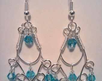 Crystal Chandelier Wire Earrings