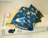 Women's wallet // Cotton fabric // Cute pattern with stars, moons and fireflies