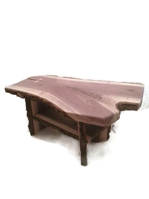Items Similar To Live Edge Walnut Coffee Table Cottage Decor Walnut Slab Table Coffee Table