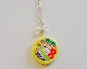Food Jewelry Tart  Miniature Food Necklace -Miniature Food Jewellery,Handmade Food Pendant,Mini Food Jewelry