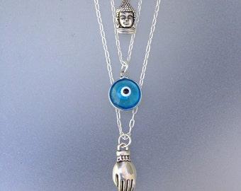 Turkish evil eye/ nazar pendant/Glass Evil Eye/12mm