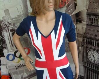 Brit dress Union Jack. Designer dress. Retro 60's style