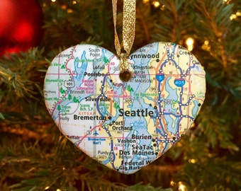 Seattle Map Ornament
