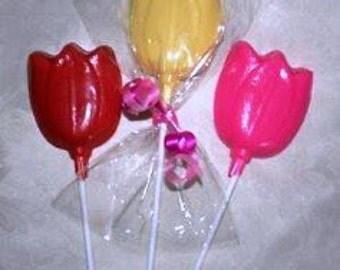 20 Chocolate TULIP Lollipop Party Favors