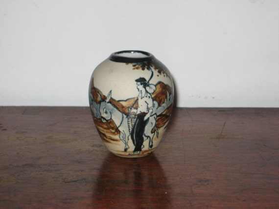 Items Similar To French Basque Ciboure Pottery Vase Pained