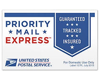 Express shipment for domestic or international orders.