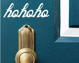 Christmas Door Decorations - HoHoHo Stickers - 0013 - Holiday Decorations
