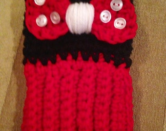 Minnie Mouse boot cuffs! Red or hot pink! Child to adult!