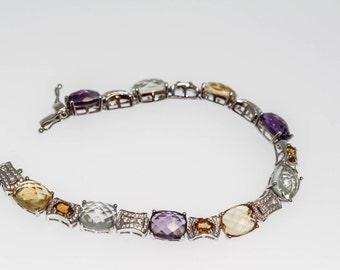 925 Multicolor Quartz Bracelet