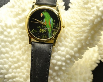Original Hand Painted Watch (Green Parrot)