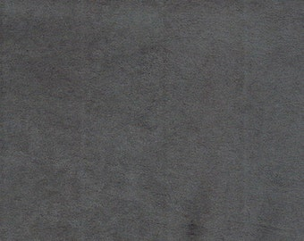 "Charcoal Polyester micro faux suede upholstery fabric by the yard 60"" Wide"