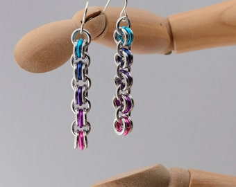 Ombre Chainmaille Earrings
