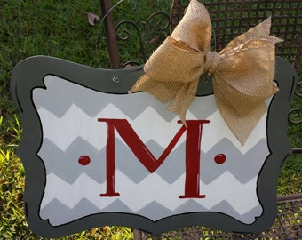 Monogram door hanger, monogram door decor