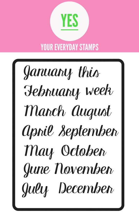 Your Everyday Stamps Months set