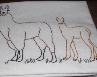 Llama Kitchen Flour Sack Dish Towel