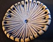 artisan handmade stoneware clay ceramic disc pendant