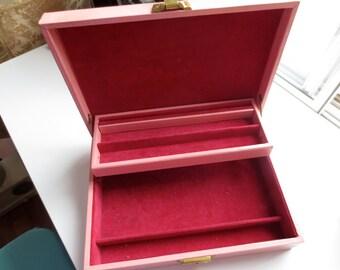 Red & Pink Jewelry Box
