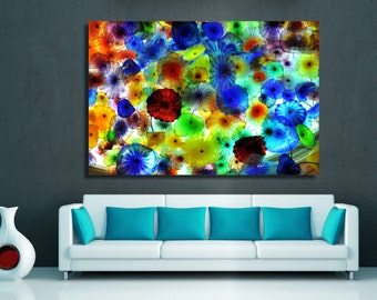 Large Canvas Print - Colorful Abstract Art - bright colors - for home or office decor & interior design