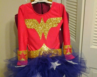 Adult size wonderwoman costume with accessories