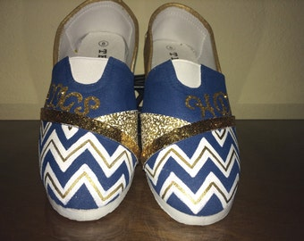 School Spirit shoes - personalized with your school and mascot
