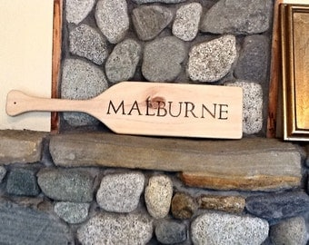 Personalized Wooden Paddle Decor, Wood-burned Paddle
