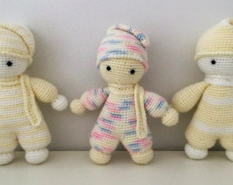 Amigurumi Cuddly Baby : Items similar to Crochet amigurumi apple and carrot-Mela e ...