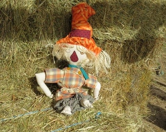 Quigley the scarecrow handmade doll