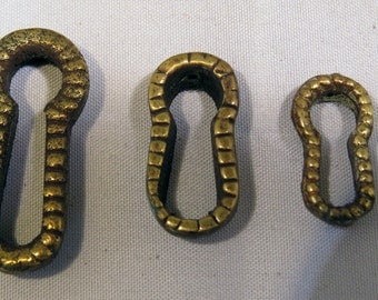 LARGE brass escutcheon for furniture keyhole decoration and embellishment