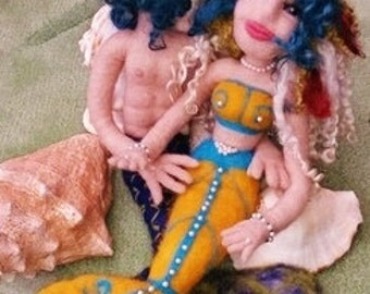 OOAK Needle Felted Mermaids