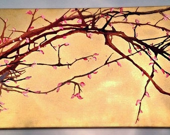 Cherry Blossoms in Crayon