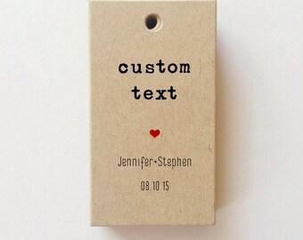 Mini Custom Tags Custom Favor Tags Personalized Custom Gift Tags SET favor tag bridal shower favor tags - CHECK SIZE