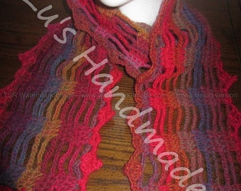 Red Variegated Scarf