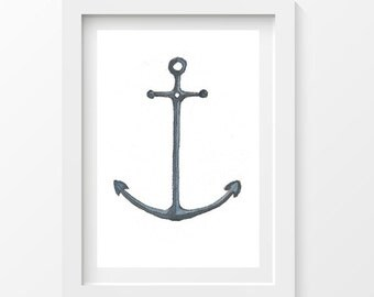 Anchor postcard - printed on thick paper