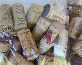 Wine Corks 100 Count All Natural, no synthetic corks, no champagne corks, crafting corks, used corks, wine corks
