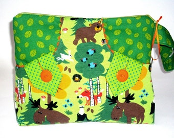 Bags, toiletry bags, with woodland animals