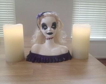 Dolly Haunts a Lot- Creepy Halloween Decor Doll