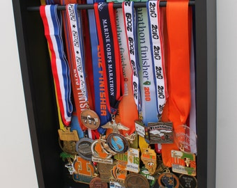 running medal display