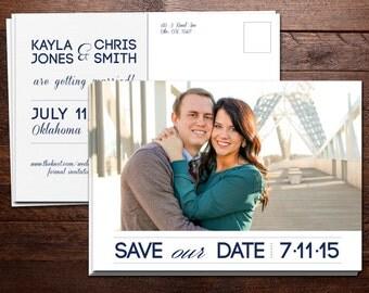 Clean & Modern Save the Date Postcard