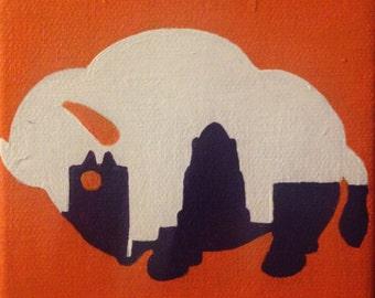 Buffalo Bandits Painting
