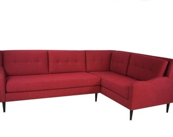 Hand made Mid century modern sectional sofa / couch