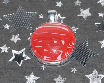 Red abstract pendant