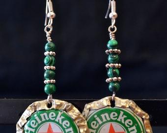 Heineken Bottlecap Earrings