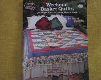 Weekend Basket Quilts, by Marti Mitchell, quilt as you sew, book, patterns,postage stamp
