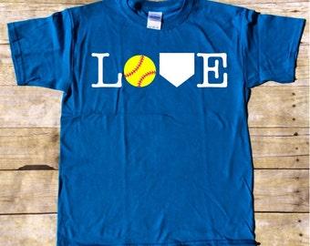 Love Softball T-shirt - Softball T-shirt - Softball Player t-shirt