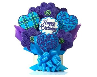 8 custom made cookies per basket for holidays, corporate gifts, birthdays or to your specific need.