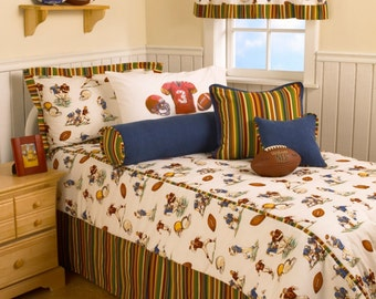 Football Twin Comforter 6 Pc Set FREE SHIPPING