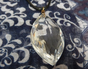 Simple Crystal 24 inch Glass Pendant