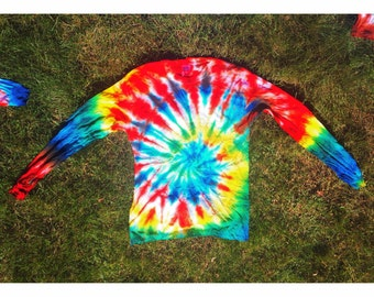 Long Sleeve Tie-Dyed Shirts