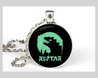 Reptar Inspired Necklace in Silver